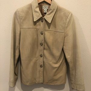 Ann Taylor Loft Buckskin Leather Blazer/Coat